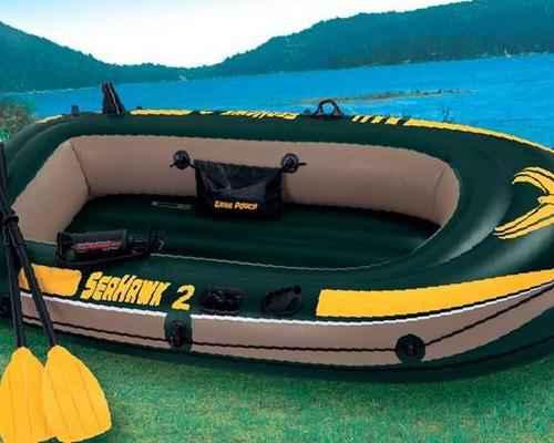 лодка надувная intex 68347 seahawk 200 set